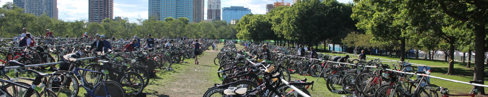 Transition area at World Triathlon Championships