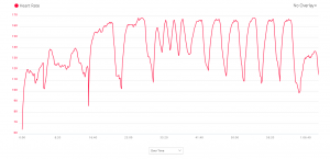 Heart rate - speed session