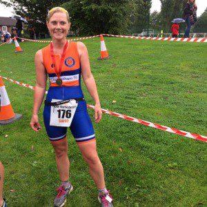 Sarah Ellis in Chippenham Tri suit