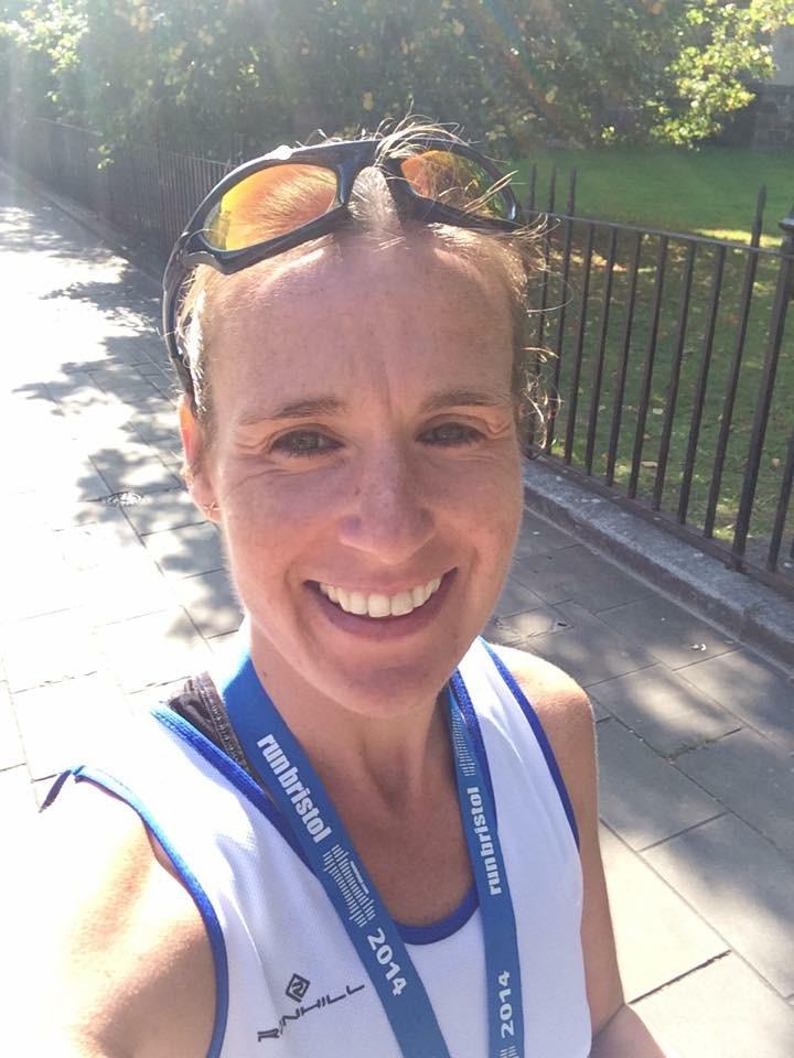 Nicky after Bristol Half marathon