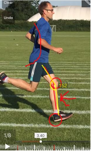 Man having a running assessment test
